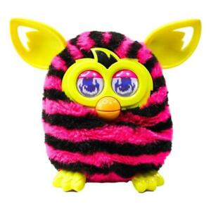 Furby Boom! (Pink & Black Stripes) Interactive Figure (Hasbro, 2012) Tested!