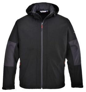 PORTWEST TK50 Softshell Jacket Windproof Water-Resistant with Polar Fleece