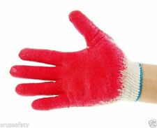 300 Pairs Red Latex Rubber Palm Glove, 1 Case Work Gloves, Made in Korea