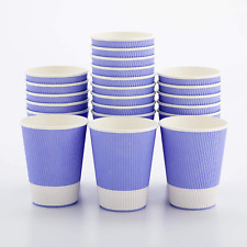12 Ounce Paper Coffee Cups 25 Ripple Wall Disposable Paper Cups Leakproof Re