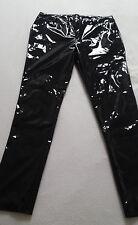 Schwarze Lackhose Jeans Spiegelglanz neu aalglattes material 100% lack pvc gr L