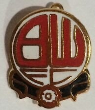 BOLTON WANDERERS FC ENAMEL PIN BADGE EARLY 1990's  VINTAGE