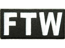FTW F*CK THE WORLD Embroidered Jacket Vest Fun Rude Biker Saying Patch Emblem