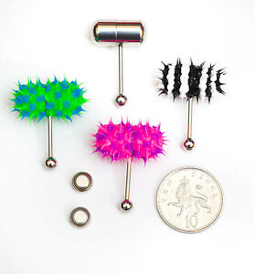Vibrating koosh tongue bar very powerful design with 2 batteries UK delivery