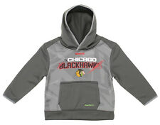 Chicago Blackhawks NHL Boys Kids Forecheck PlayDry TNT Pullover Hoodie, Grey