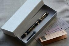 Japanese Modern Lacquer Makie Fountain Pen Box and papers