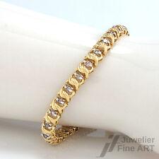 Armband 585/14K Gelbgold/Weißgold - Brillanten ca. 1,6 ct leicht getönt-P 13 g