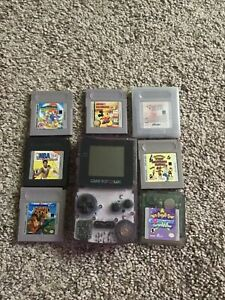 Nintendo Game Boy Color Handheld Console - Atomic Purple With 7 Games