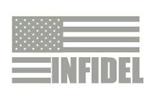 Infidel Flag Car Truck Window Decal 2a Gun AR 15 4X4 Funny Sticker Ammo USA YETI