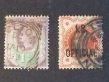 Great Britain Scott 112/Sg 198 and Scott O11/Sg O13, Used