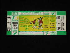 1973 WORLD SERIES FULL TICKET - A's - Gm 7 - CHAMPIONS