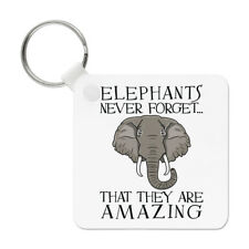 Elephants Never Forget That They Are Amazing Keyring Key Chain - Funny