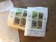 6 Spain 1978 Stamp Mini Sheets