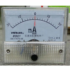 85C1-A DC -30mA-0-30mA Panel Meter Gauge Current Analogue Analog Ammeter