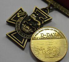 Superb Victoria Cross Service Medal & 24ct Gold WW2 D-Day Commemorative Set.