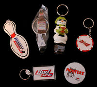 6 Budweiser Poker Winter Borubon Cask Ale Hooters Bud Light Key Chain Mint Lot