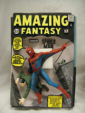 """SIGNED By """"STAN LEE"""" MARVEL AMAZING Fantasy SPIDER-MAN #15 3D COMIC COVER STATUE"""