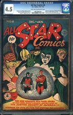 All Star Comics #8 CGC 4.5 DC 1941 1st Wonder Woman! Holy Grail! G12 910 cm