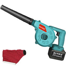 More details for ruyika 21v cordless garden leaf blower electric air vacuum snow dust lightweight