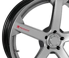 6 x Peugeot Aufkleber für Felgen 206 207 306 307 308 406 407 Emblem Logo R