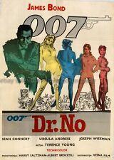 Dr. No Sean Connery 1962 Yugoslavian movie poster