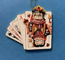 Betty Boop Queen Of Hearts Christmas Holiday Ornament Last !