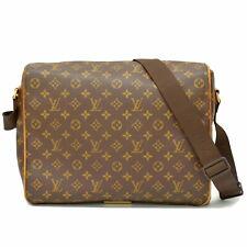 Authentic Louis Vuitton Monogram Shoulder Crossbody Bag Messenger Abbesses Brown