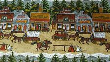 """Old West Town Pattern fabric!!!  49 1/2"""" Wide!!Sold by the Yard! FREE SHIPPING!!"""