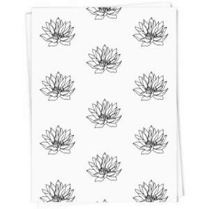 'Water Lily Flower' Gift Wrap / Wrapping Paper (GI012992)