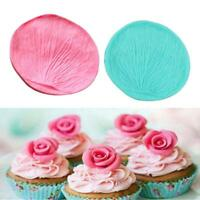 Rose Petal Sugar craft Veiner Mould Sugar Cupcake Cake Chocolate Decorating