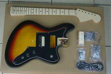 "DIY/Build Your Own GUITAR KIT Jag Stang Offset 3 Tone Burst 24"" Short Scale"