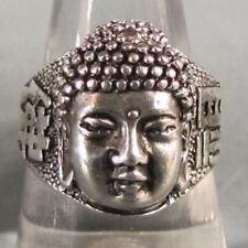 Stunning Tribal lucky Tibet Silver Buddha Blessing Unisex Men's Ring #3pr