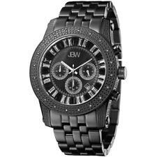 JBW MEN'S KRYPTON DIAMOND 48MM IP STEEL BRACELET & CASE QUARTZ WATCH JB-6219-L