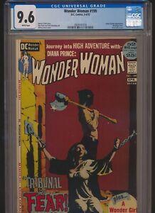 DC COMICS WONDER WOMAN #199 CGC 9.6 WP GREY TONE BONDAGE COVER