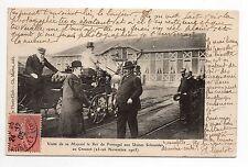 PORTUGAL famille royale le roi en visite aux usines Schneider le creusot en 1905