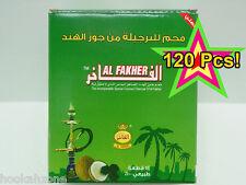 120 Pcs Al Fakher Natural Coconut Hookah Coals Shisha Charcoal Coco Nara