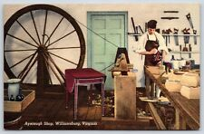 Ayscough Cabinet Furniture Shop in Williamsburg, Virginia Linen Postcard Unused