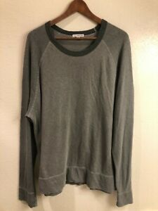 James Perse Standard Crewneck Colorblock Pullover Sweatshirt (size: 4/XL)