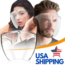 Clear Space Full Face Shield Plastic Mask Transparent Reusable Visor No Fog Us