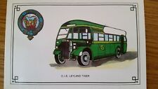 *RARE* C.I.E. LEYLAND Tiger Bus POSTCARD Irish