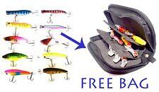 USA FISHING LURES  COMBO 10  CRANKBAITS & PORTABLE CARRY BAG /  BASS FISHING