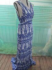CrossRoads Sz 16 Au Floor Length Soft Viscose Wrap Dress-VGC-Gathered Hem