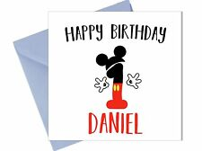 PERSONALISED MICKEY MOUSE 1ST BIRTHDAY CARD First Boy Brother Son Grandson /JR