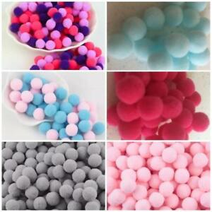 Small Craft Pompoms 10mm Various Colours Pink, Pale Blue, Grey, Purple Assorted