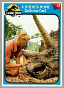 Jurassic Park 1993 Sgt. T-Rex Turner Card ONLY #34Triceratops Dr. Ellie Sattler
