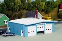 PIKESTUFF PKS19 HO Fire Station Firehouse Model Railroad Kit Blue FREE SHIP