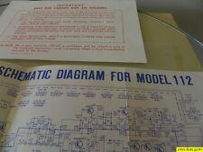 Marantz Model 112  Factory Original Schematic Diagram New