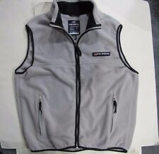 RALPH LAUREN POLO JEANS COMPANY Vintage ZIP UP FLEECE VEST Gray LARGE