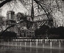 1927 Vintage FRANCE Paris Notre Dame Cathedral Architecture Photo Art HURLIMANN