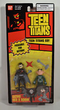 "2005 Gizmo & Red X Robin 3.5"" Bandai 2 Action Figure Pair Teen Titans Go"